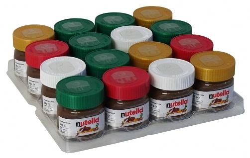 Nutella Geschenke Christbaumschmuck Mini Gläser zum Aufhängen 30g 16er Pack