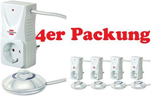4er Sparpack Brennenstuhl Eco-Line Comfort Switch Adapter CSA 1, 1508120 (4, Fußschalter)