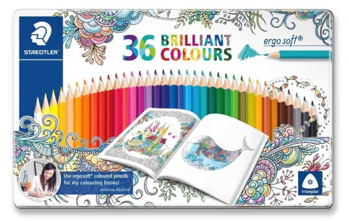 Staedtler 36 Farbstifte ergosoft in Metalletui Sonderedition