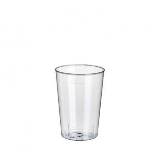 40 Trinkbecher, PS 0, 1 l Ø 5, 5 cm · 7, 5 cm glasklar Plastik