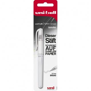 Faber Castell Uni Ball Signo Broad Gelroller Gelschreiber Weiß
