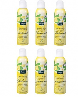 Kneipp Schaum-Dusche Glücksmoment Zitronenminze Avocadoöl, 6er Pack (6 x 200 ml)