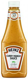 Heinz Curry Mango Sauce , Squeezeflasche, 2er Pack (2 x 875 ml)