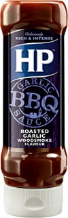 HP BBQ Sauce Roasted Garlic mit geröstetem Knoblauch rauchig 400ml