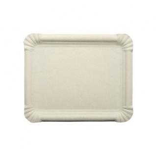 Papstar Einweg Teller Tablett aus Pappe weiß eckig 20 cm 250 Stück