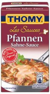 Thomy Les Sauces Pfannen Sahne Sauce für Fleisch aller Art 250ml 12er Pack