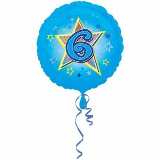 amscan Standard Blaue Sterne 6 Folienballon S40 verpackt 43 cm