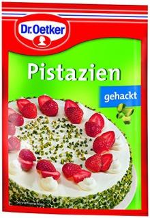 Dr. Oetker Pistazien, gehackt, 10er Pack (10 x 25 g Beutel)
