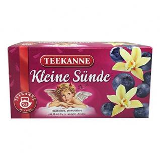 Teekanne Kleine Sünde Früchtetee Heidelbeer Vanille Aroma 60g
