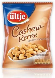 Ültje Cashews geröstete und gesalzene Cashewkerne Nuss Snack 150g