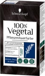 Schwarzkopf 100 Prozent Vegetal Natürliches Schwarz Haarfarbe