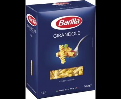 Barilla Girandole Nummer 34 Hartweizengrieß Nudeln 500g 4er Pack