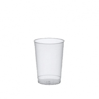 40 Trinkbecher, PP 0, 1 l Ø 5, 2 cm 7, 4 cm transluzent unzerbrechlich Mehrwegbecher
