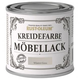 Rust Oleum Shabby Kreidefarbe Möbellack Wintergrau mattes Finish 125ml