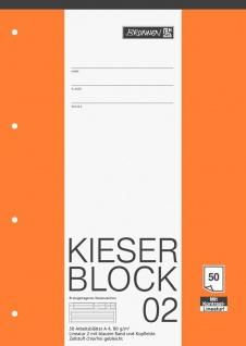 Kieser Block 02 DIN A4 Schullineatur 4-fach gelocht