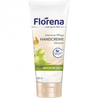 Florena Intensive Pflege Handcreme Olivenöl für trockene Hände 100ml
