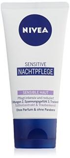 Nivea Sensitive Nachtpflege, für sensible Haut, 1er Pack (1 x 50 ml)