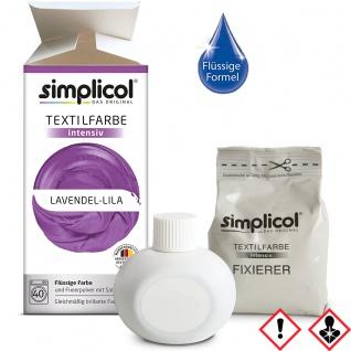 Simplicol Textilfarbe intensiv all in 1 Flüssig Lavendel Lila