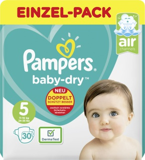 Pampers BABY DRY Windeln Dry Gr.5 Junior 11-16kg Sparp. 30ST