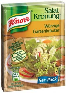 Knorr Salatkrönung Würzige Kräuter Salatdressing 10g 5x5er Pack