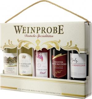Moselland 5er Geschenkpack Weinprobe Rebsorten Spezialitäten 5 x 250ml