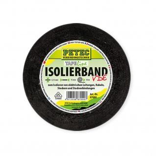 Petec Verbindungstechnik Isolierband schwarz Rolle mit 10 Meter