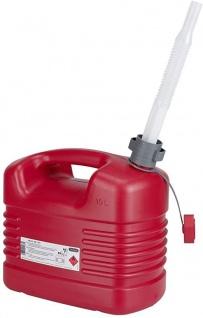 Kraftstoffkanister Pressol mit flexiblem Auslauf Farbe rot 10000ml