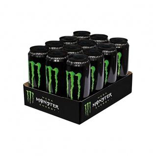 Monster Energy Mega Erfrischungsgetränk mit Koffein 553ml 12er Pack