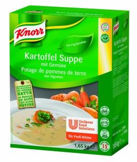 Knorr Kartoffel Suppe mit Gemüse vegetarisch für Profi Köche 1650g
