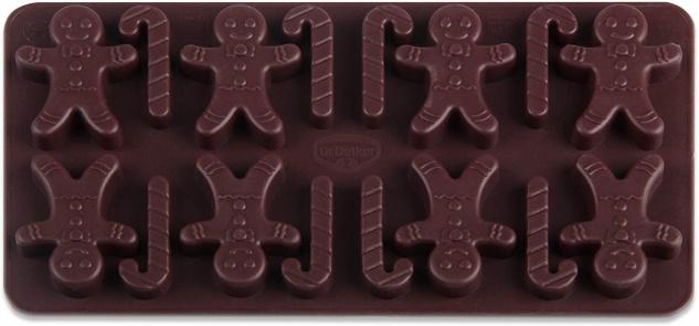 Dr. Oetker Silikonbackform für 16 Schokoladen Lebkuchenmann