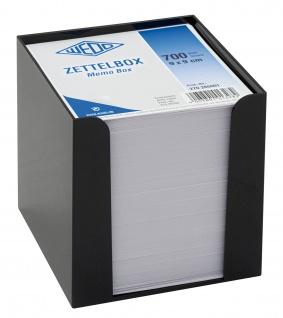 WEDO Notizzettelbox Memo Box Kunststoff gefüllt 700 Blatt Schwarz