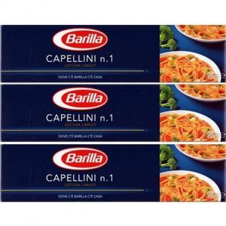 Barilla Nudeln Capellini Nummer 1 Hartweizengrieß 500g 3er Pack