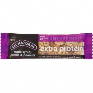 Eat Natural Extra Protein Maple Syrup Pecan und Peanuts 45g