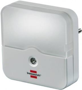 Brennenstuhl LED-Orientierungslicht eckig / Nachtlicht mit Dämmungssensor für die Steckdoseweiß