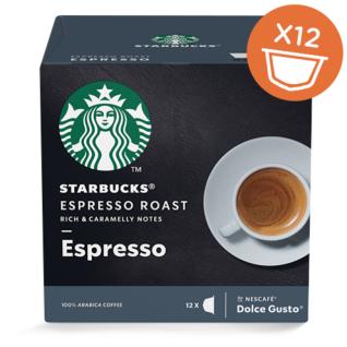 Starbucks Dolce Gusto Espresso Roast Arabica Kaffee 12 Kapseln