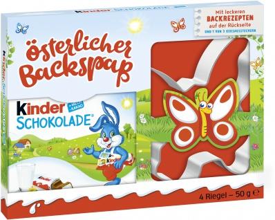 Kinder Schokolade Keksausstecher Oster Backspaß 3fach sortiert 50g