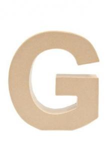 """Pappmache Buchstabe """" G"""" stehend zum basteln kreativ Rico Design Idee"""