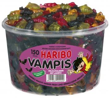 Haribo Vampis Fruchtgummis mit Lakritz 150 Stück, 1350g Dose