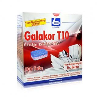 Dr. Becher Galakor T10 Geschirr Reiniger Tabs 100 Tabs 2000g