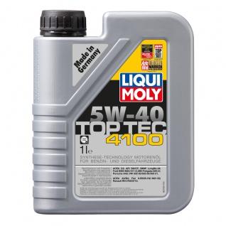Liqui Moly Top Tec 4100 5W 40 Hochwertiges Leichtlaufmotoröl 1L
