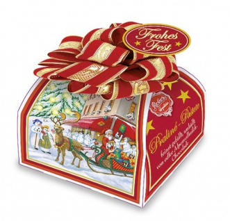 Reber Weihnachts Präsent mit Pralinen Frohe Weihnachten 30g 6er Pack