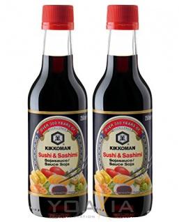 KIKKOMAN Sushi & Sashimi Sojasauce 250ml 2er Pack