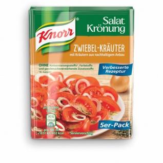 Knorr Salatkrönung Zwiebel Kräuter verbesserte Rezeptur 10g 5x5er Pack