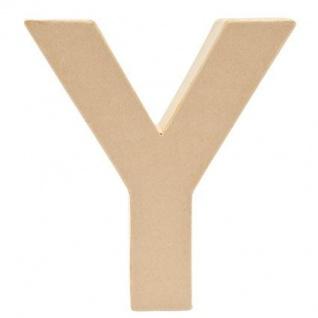 """Pappmache Buchstabe """" Y"""" stehend zum basteln kreativ Rico Design Idee"""
