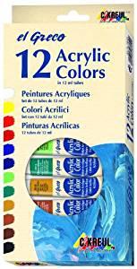 Acrylfarben 12er Set El Greco