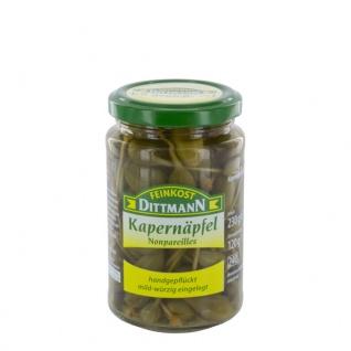 Feinkost Dittmann Kapernäpfel nonpareilles im Glas 240g 3er Pack