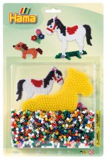 Hama Plate+Perlen Pferd