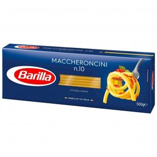 Barilla Maccheroncini Nummer 010 eine beliebte Pastasorte 500g