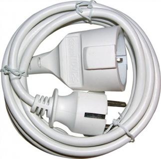 Verlängerungskabel 5m H05VV-F3G1.5 weiß