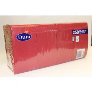 Duni 250 Zelltuch Servietten Bordeaux Tissue 3 Lagig 33x33cm